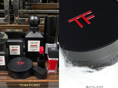 TOM FORD消光黑氣墊粉餅帥爆!遮瑕度超高,完全不用另外蓋斑