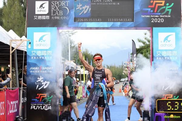 張團畯普悠瑪鐵人三項113K 3小時54分31秒破PB刷新台灣紀錄