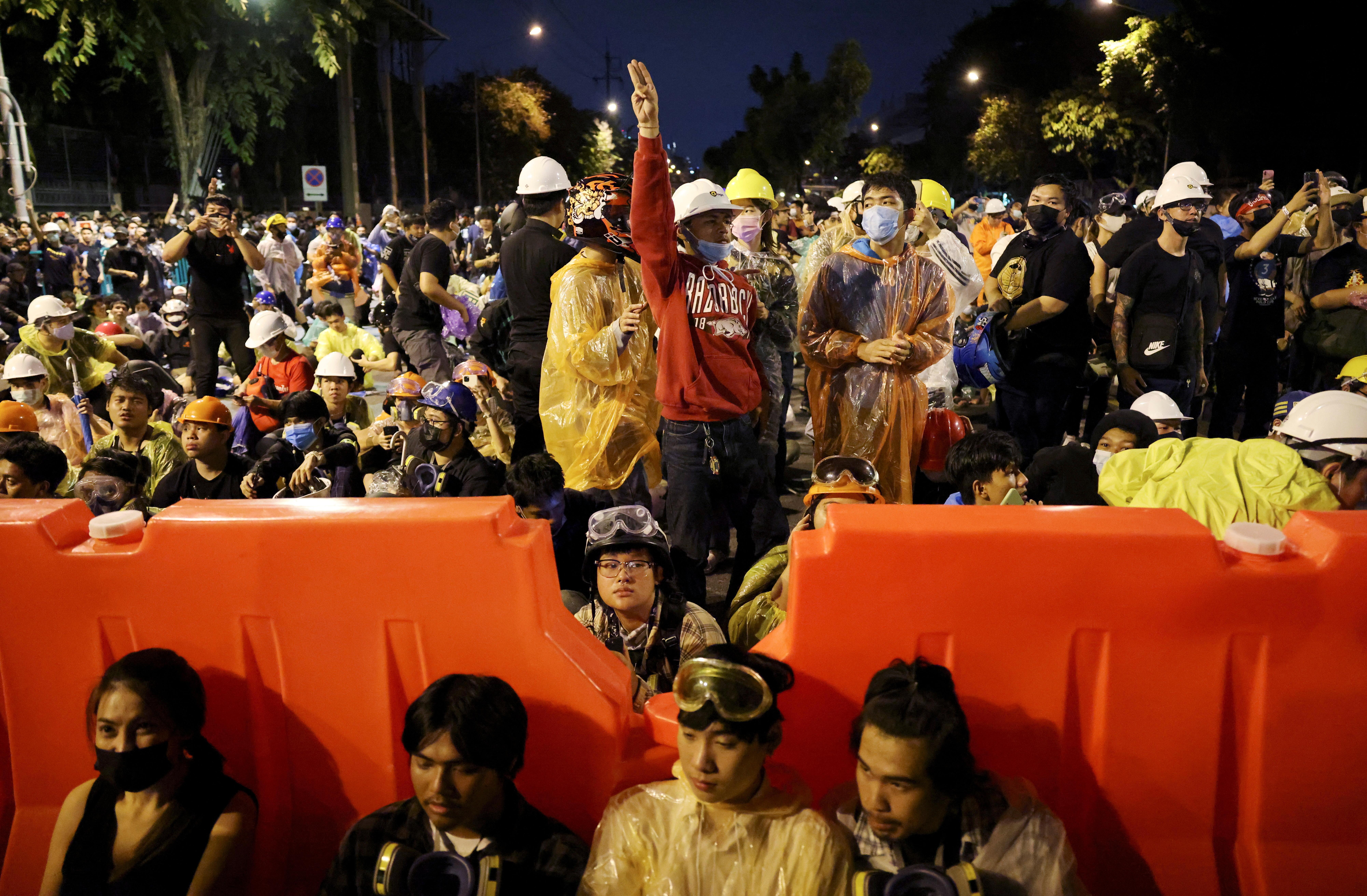 ▲泰國反政府示威。(圖/路透)