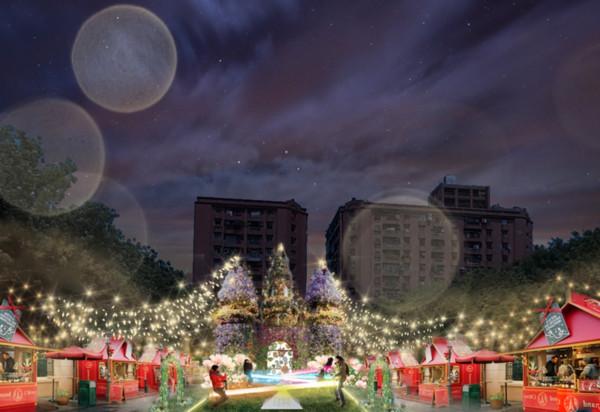 白雪公主6人物現身萬坪公園!新北耶誕城「4大燈區亮點」統整…小火車免費搭