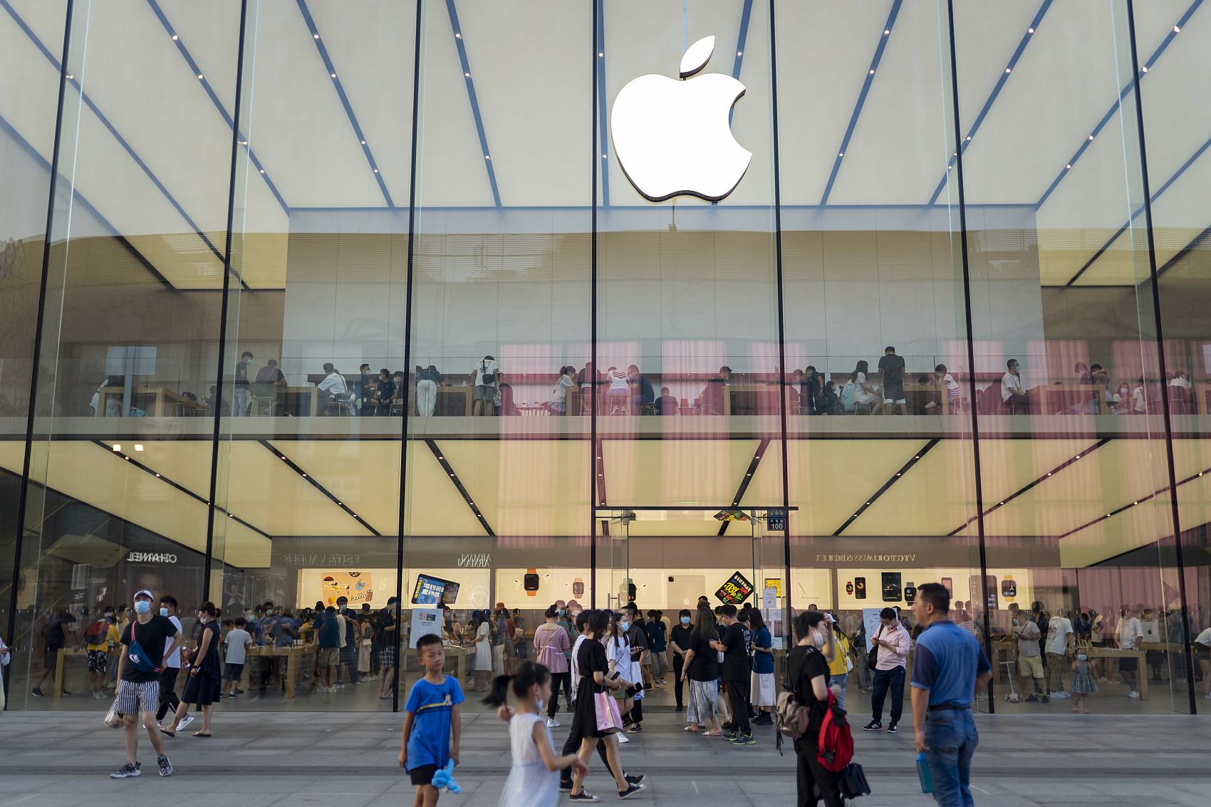 ▲▼蘋果,手機,iPhone,旗艦店。(圖/視覺中國)