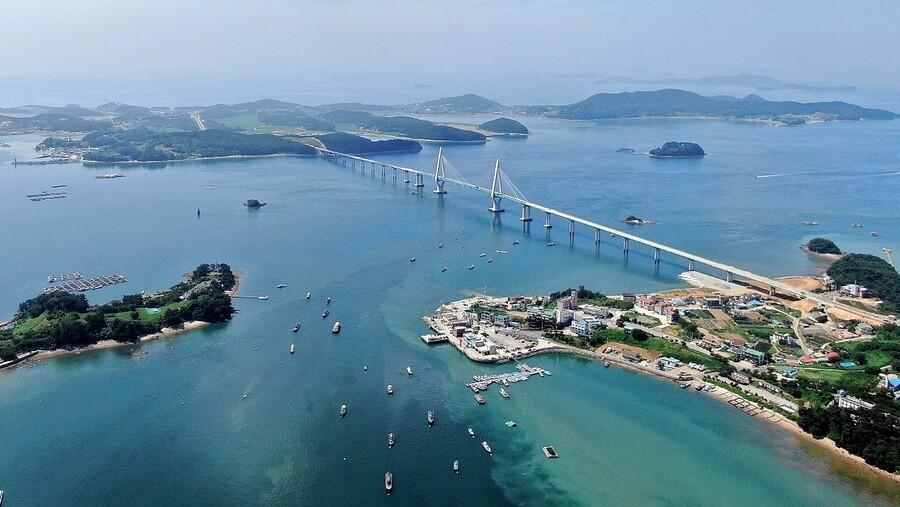 ▲▼元山安眠大橋於去年12月底正式通車。(圖/忠清南道)