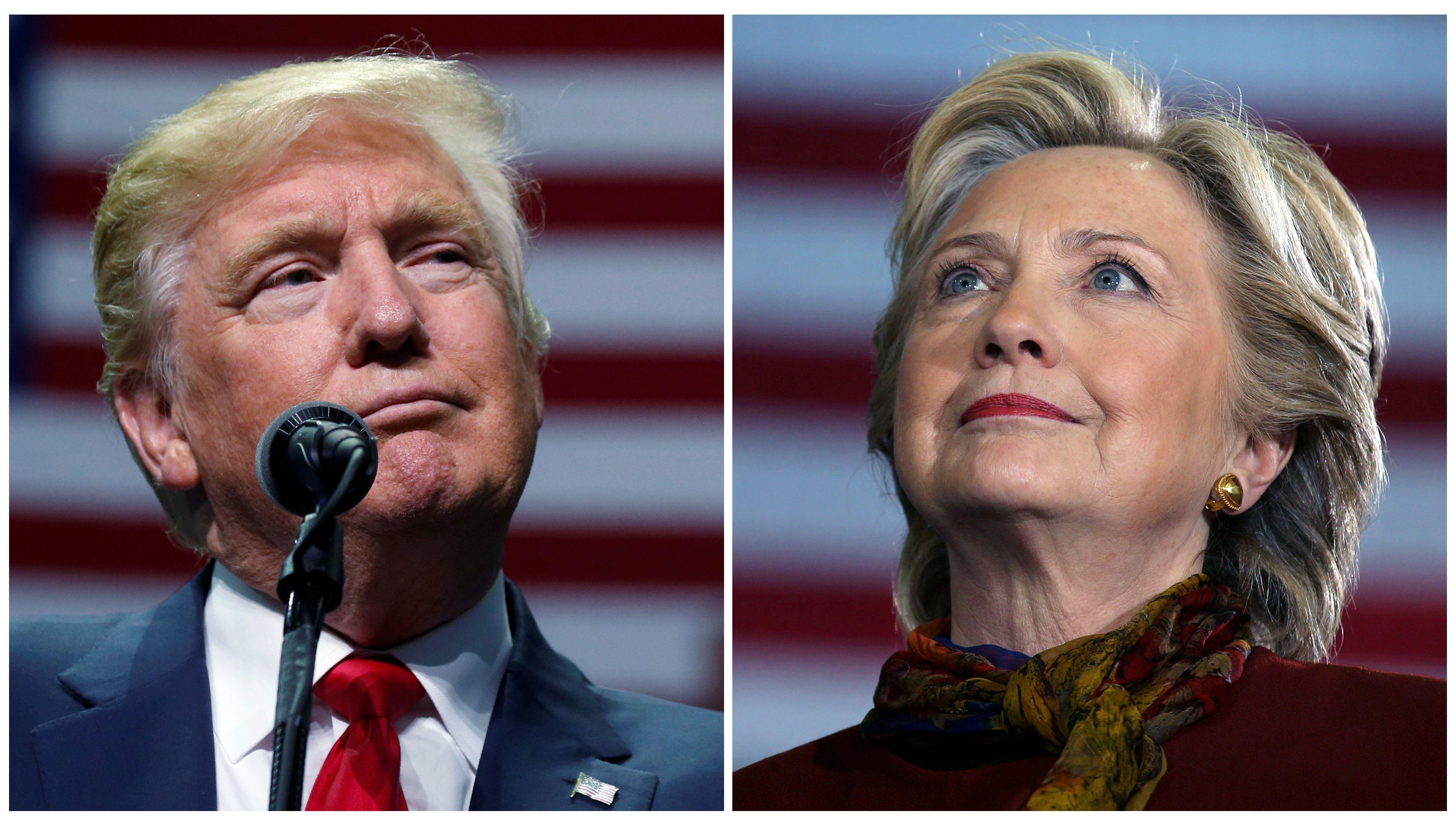 ▲▼共和黨川普以306張選舉人票擊敗民主黨希拉蕊,成功入主白宮。(圖/路透社)