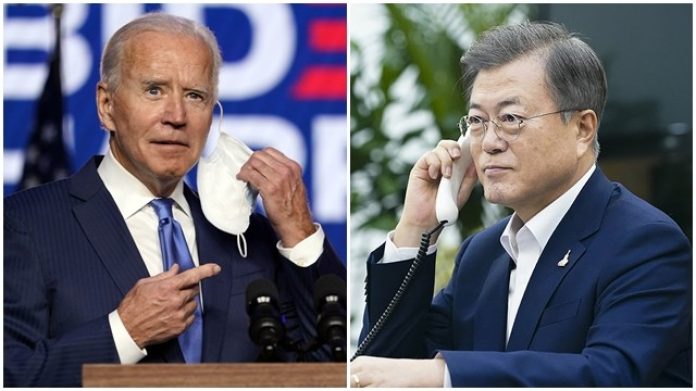 ▲▼南韓總統文在寅恭賀拜登當選美國總統。(圖/達志影像/美聯社)