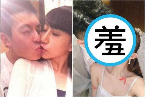 謝芷蕙與陳冠希喇舌照外流爆紅,近日與男子接吻私密照又被曝光。(翻攝自微博、IG)