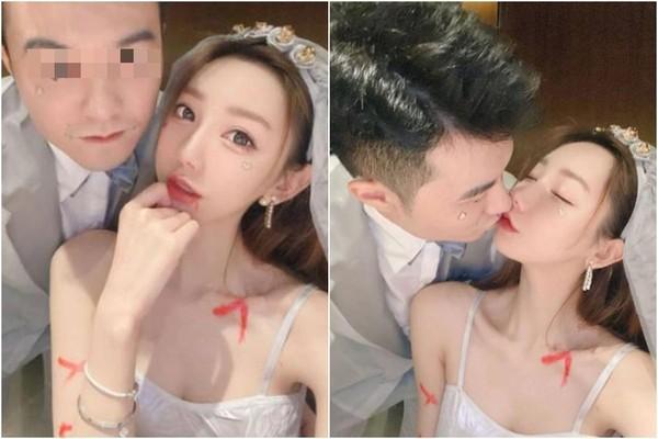 謝芷蕙與男友在萬聖節扮成鬼新郎、鬼新娘,男友William被起底出身富貴。(翻攝自IG)