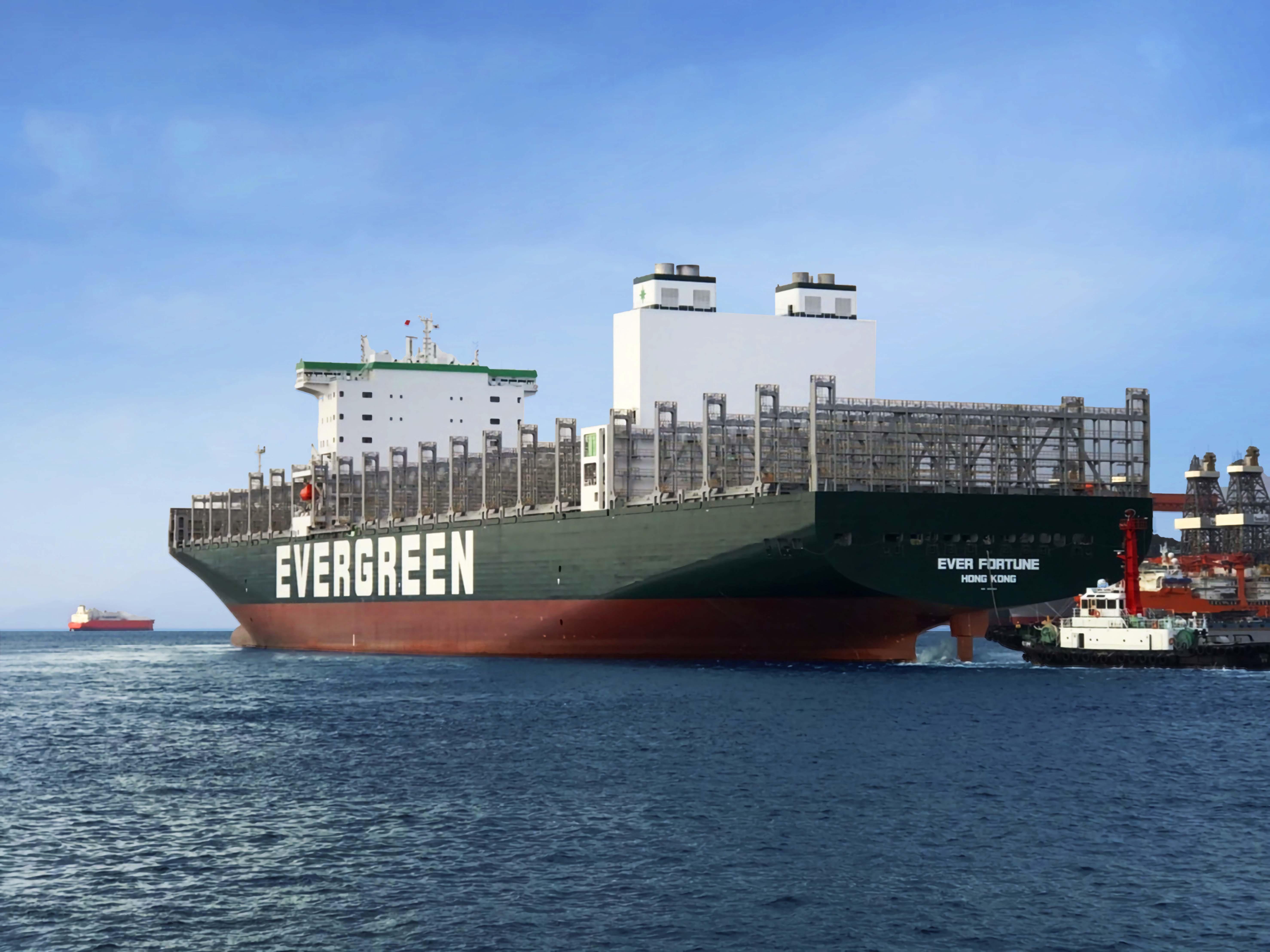 ▲▼長榮海運第五艘F型新船「長裕輪」交付營運。(圖/長榮集團提供)