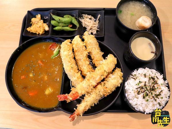 在地人也很難找到!台南超低調定食 鮮甜炸蝦+日式咖哩太罪惡