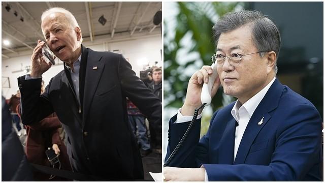 ▲▼美國民主黨勝選人拜登與南韓總統文在寅首度展開熱線。(圖/達志影像/美聯社)