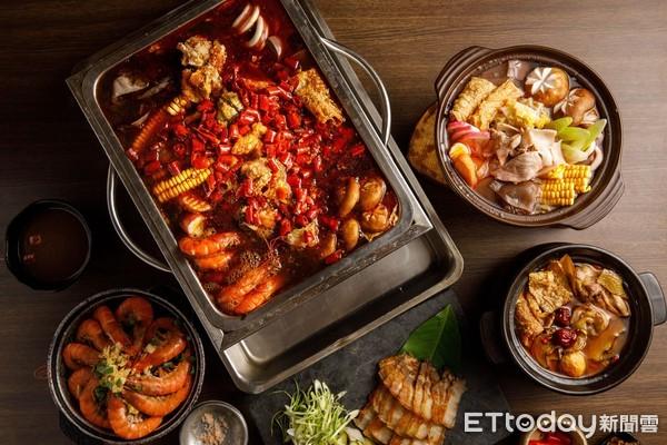 麻辣鱷魚鍋原味上桌 芭達桑原民主題餐廳鍋物季還有酸菜山豬鍋