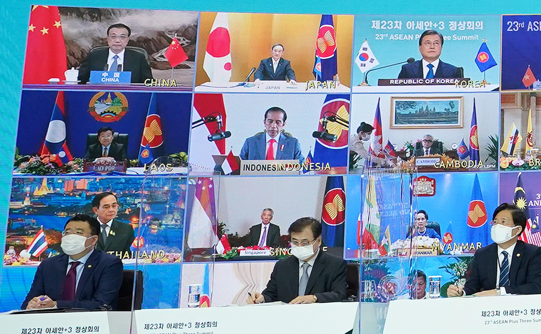 ▲▼東協10+3領導人峰會14日以視訊方式舉行,今將簽署RCEP協定。(圖/達志影像)