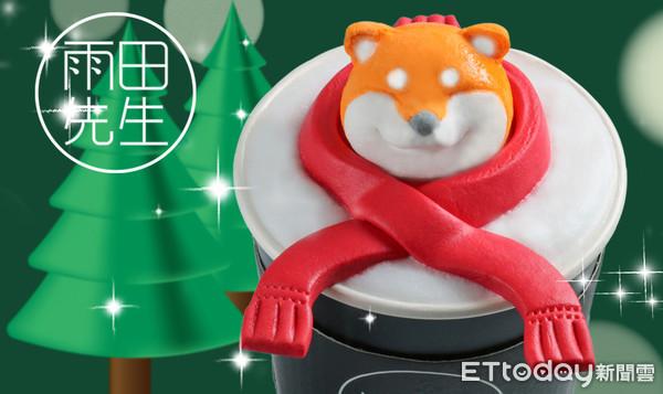 圍上紅圍巾萌度破表 雨田先生耶誕檔期棉花糖造型飲料免費升級 | ETto
