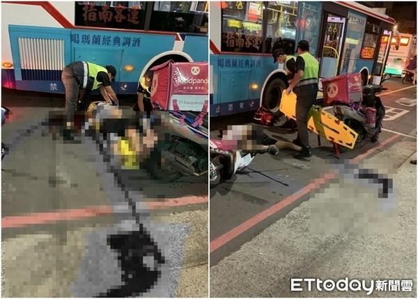 快訊/新北熊貓外送員車禍命危 「失去心跳」躺公車旁、血流滿地