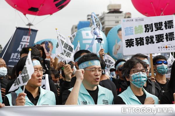 民眾黨參加秋鬥訴求「標萊豬救食安」 謝立功:柯文哲百分百支持