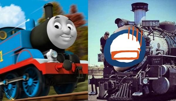 《湯瑪士小火車》將翻拍真人版! 網模擬「人臉貼車頭圖」超驚悚