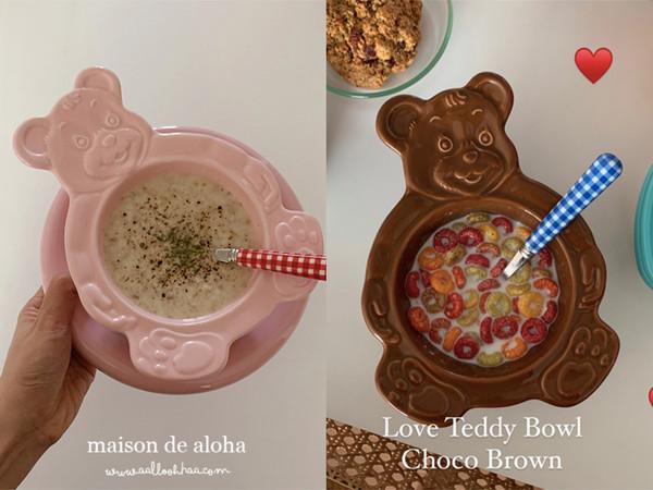韓國手工「熊熊碗盤」爆炸Q引熱議 泡早餐麥片、吃蛋糕都超療癒 | ET