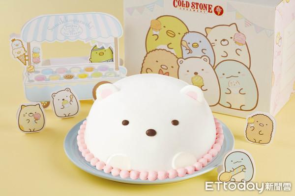 少女心噴!全台首顆療癒「白熊冰淇淋蛋糕」 夾夢幻藍、粉內餡超欠吃 | E