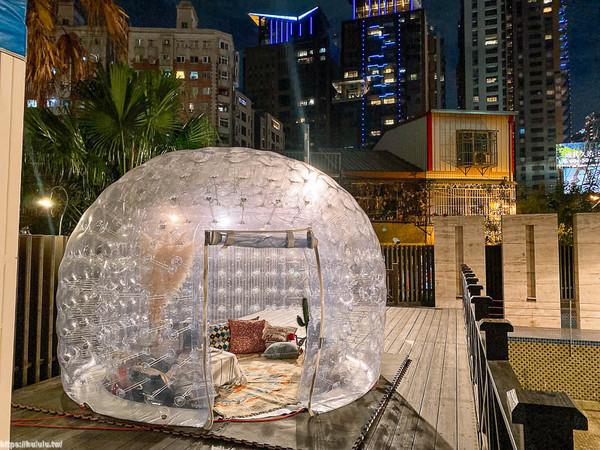 最新酒吧隱身大樓內!「透明泡泡屋」超夢幻 星空下小酌太Chill