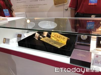 金嬌貴!台銀展出兩塊400多盎司金塊 可以買到「台北市大直好房」