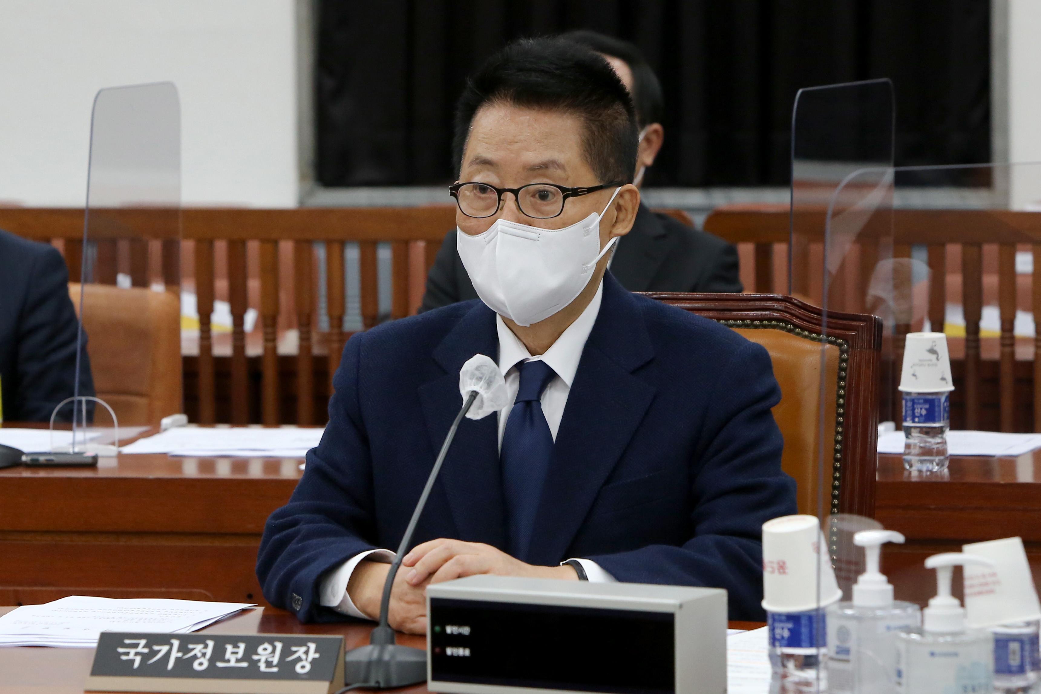 ▲▼南韓國情院長朴智元27日接受質詢。(圖/達志影像)