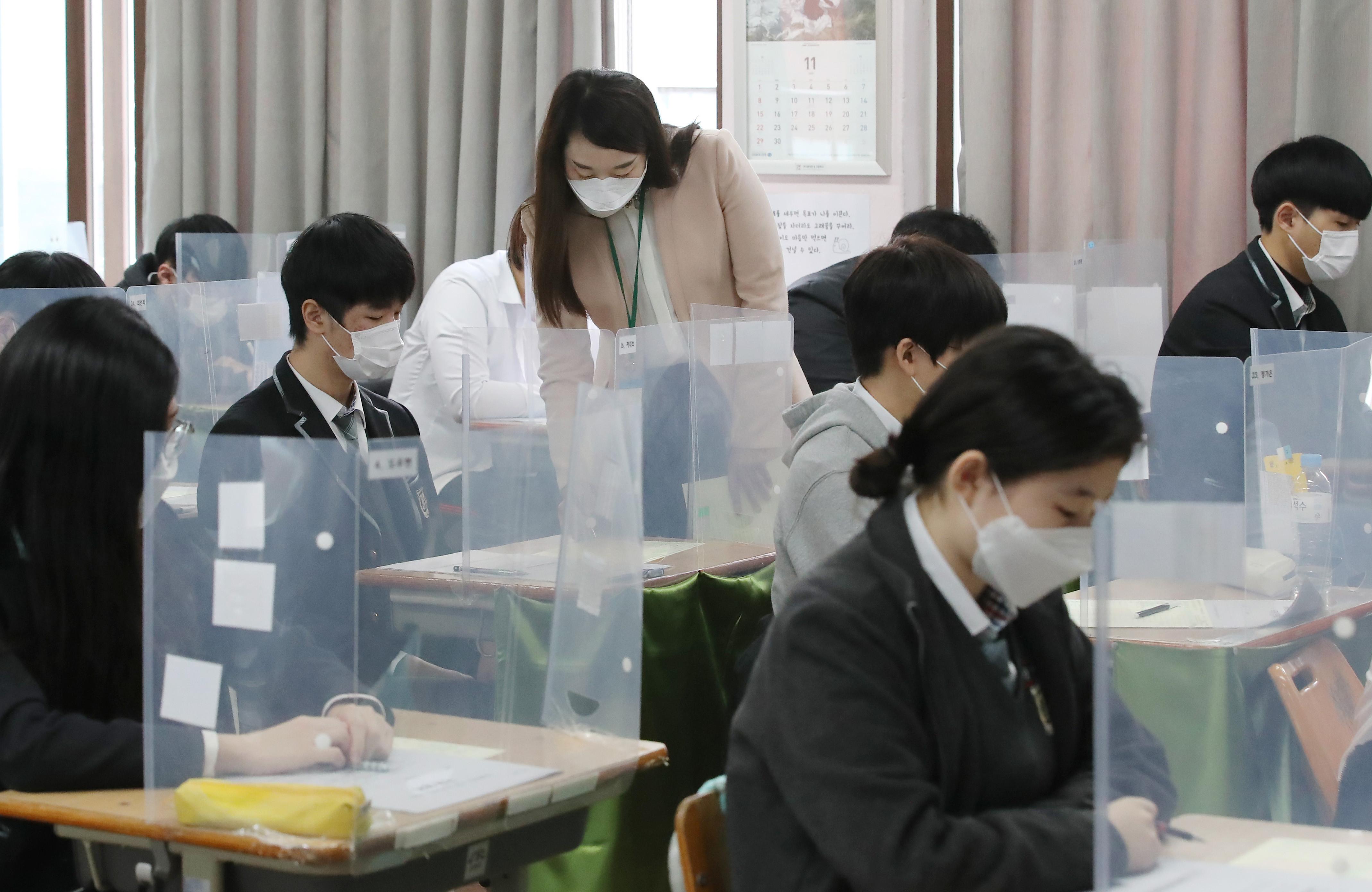 ▲▼南韓高三生大學入學考試將於12月3日如期舉行。(圖/達志影像)
