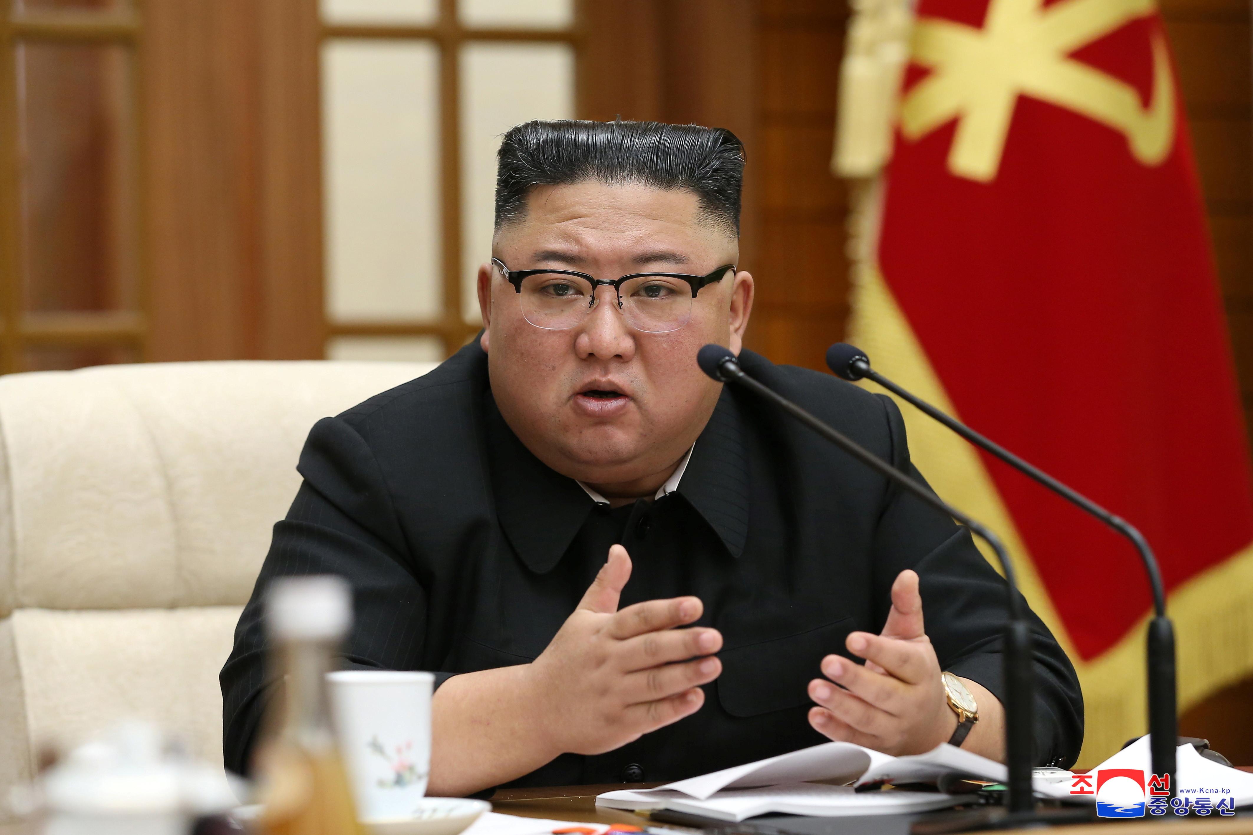 ▲▼北韓最高領導人金正恩召開政治局擴大會議,討論經濟問題。(圖/路透社)