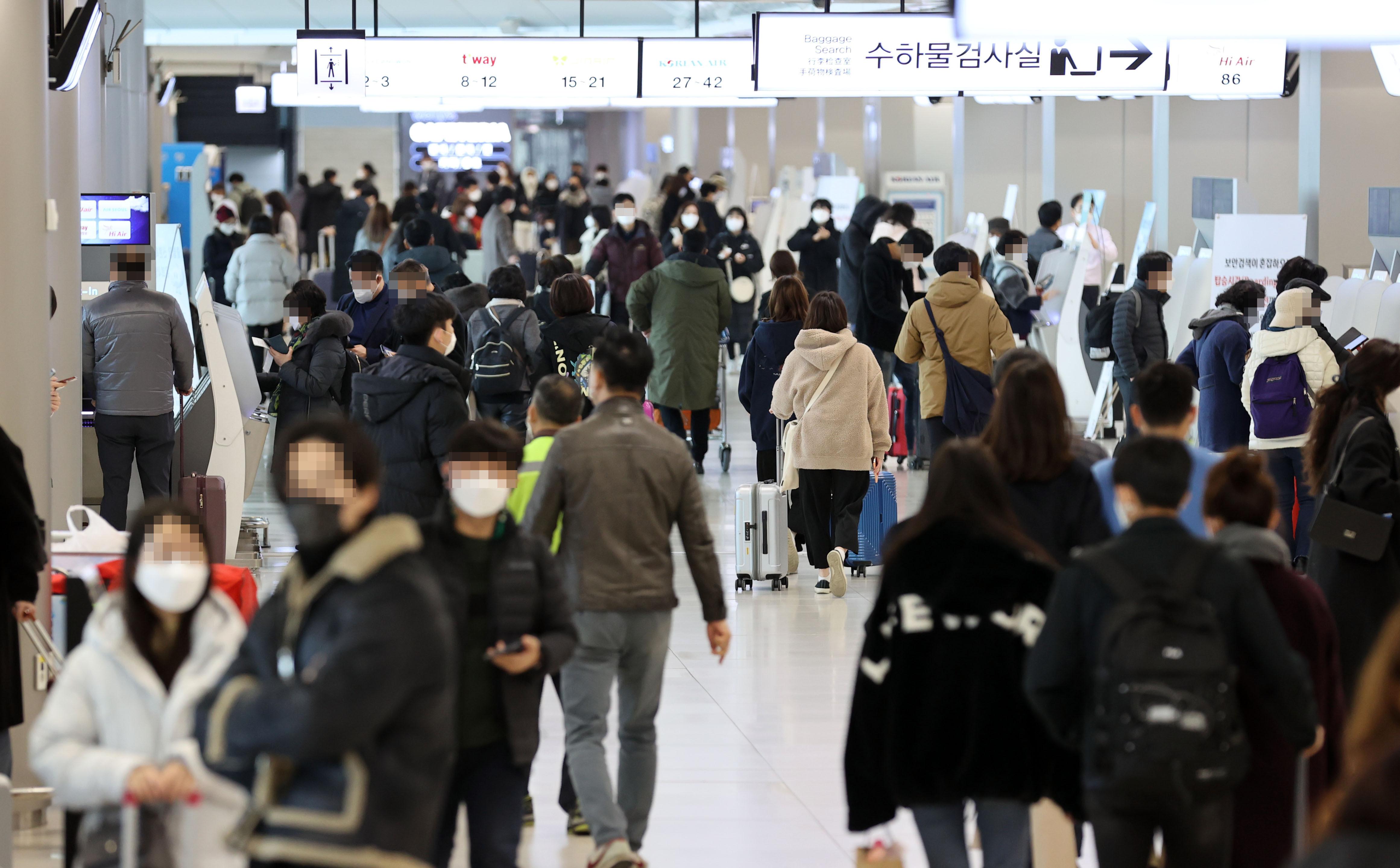 ▲▼大批人群聚集在金浦國際機場(圖/達志影像)