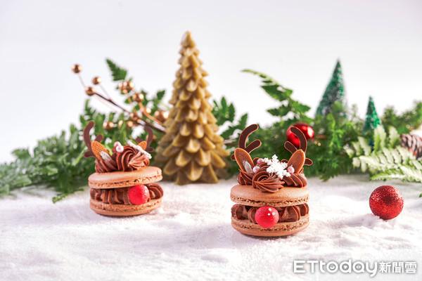 萌炸!采采食茶「紅鼻子麋鹿馬卡龍」來了 還有雪人、聖誕老公公款