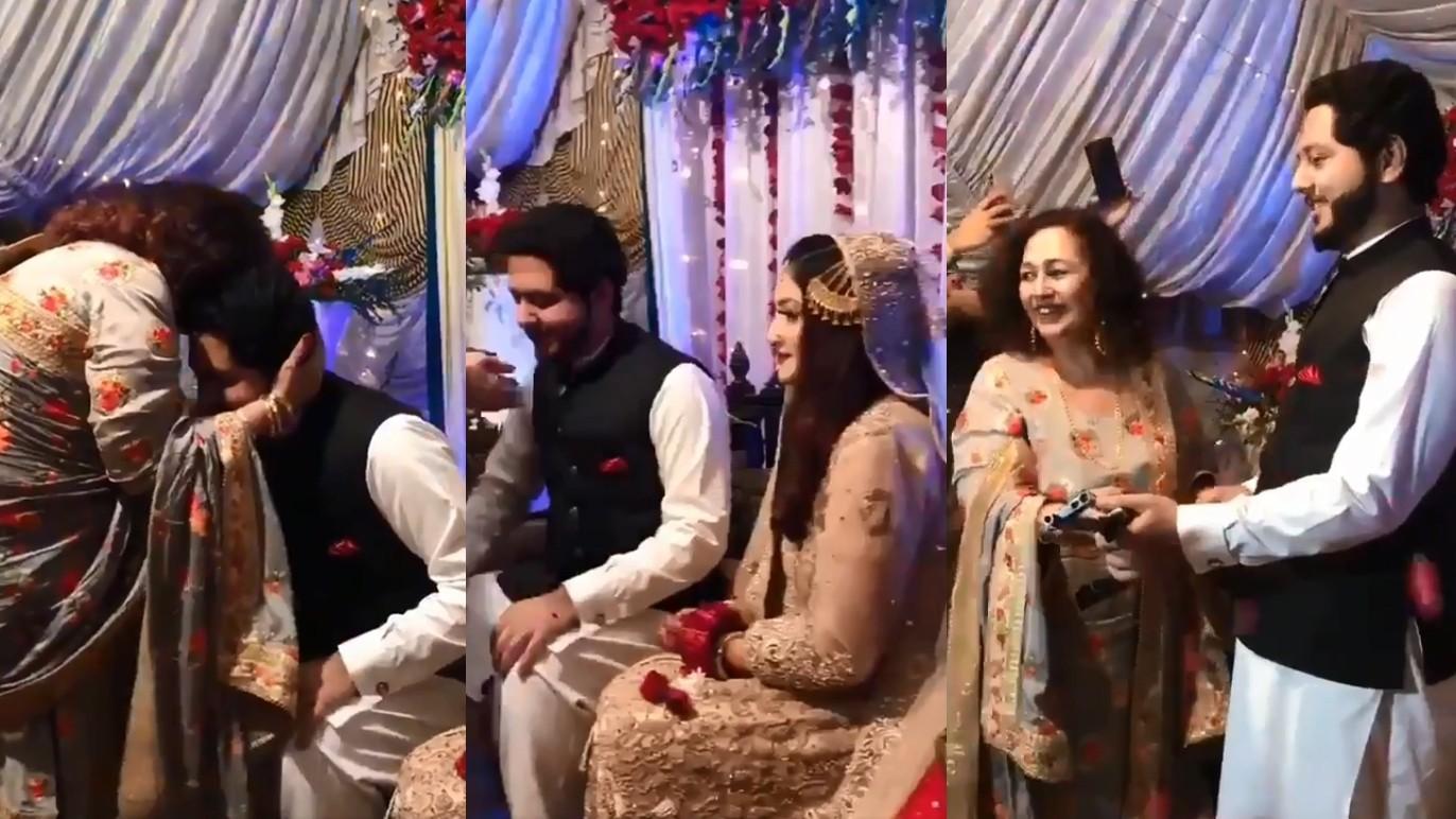 ▲▼一名巴基斯坦岳母竟贈女婿AK-47步槍,作為結婚禮物。(圖/翻攝自Twitter/@syedadeelahsan)
