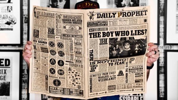 魔法世界《預言家日報》真能買到! 頭版是「哈利波特」要價上萬