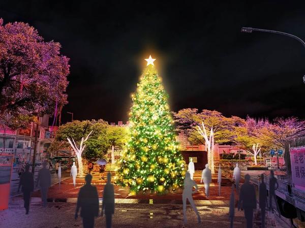 淡水「櫻花隧道、翻糖花園」耶誕燈飾19日點亮!當天還有音樂會