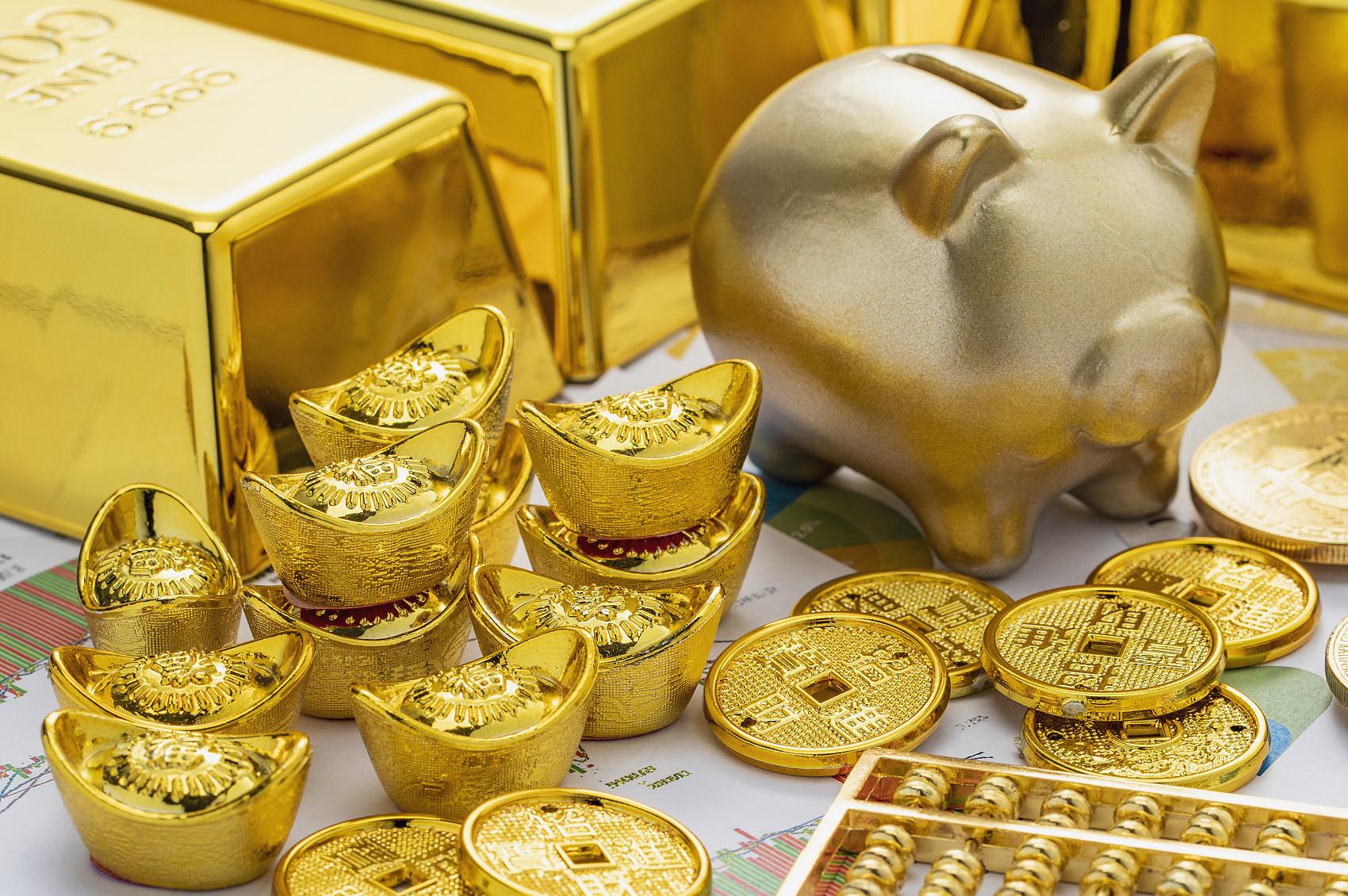 ▲▼金,黃金,金條,金元寶,金磚,金塊。(圖/CFP)