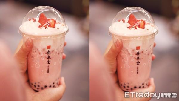 冬天就等這杯!春水堂夢幻系「草莓珍奶」回來了 鋪滿白奶霜超欠喝 | ET