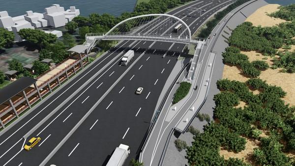 新竹「香山豎琴橋」旁新建64公尺賞夕平台!預計2021年2月完工 | E