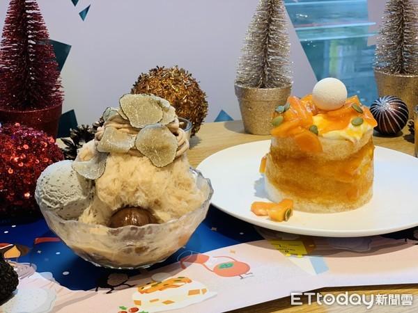 放了現刨松露、滿滿甜柿!ICE MONSTER「聖誕限定」冰品新報到