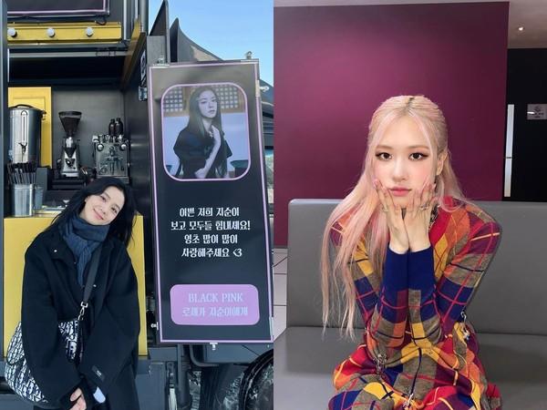 [新聞] Jisoo人生首度收到應援餐車 Rosé喊: