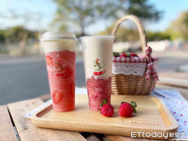 直接放了半杯草莓!Mr.Wish「草莓限定」夢幻手搖登場 還加了奶蓋 |
