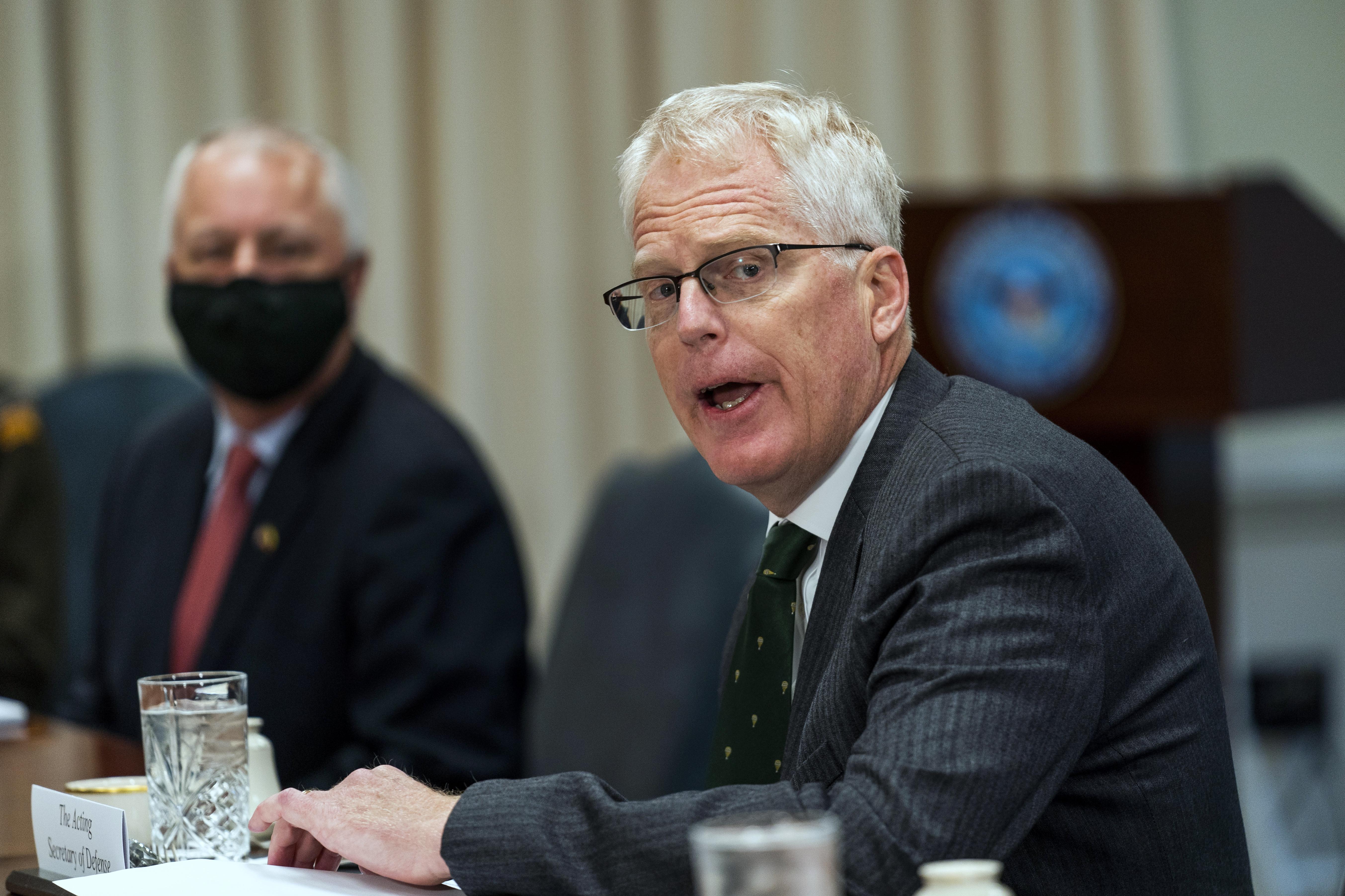▲▼美國代理國防部長米勒傳出全面中斷與拜登團隊的交接工作。(圖/志影像/美聯社)