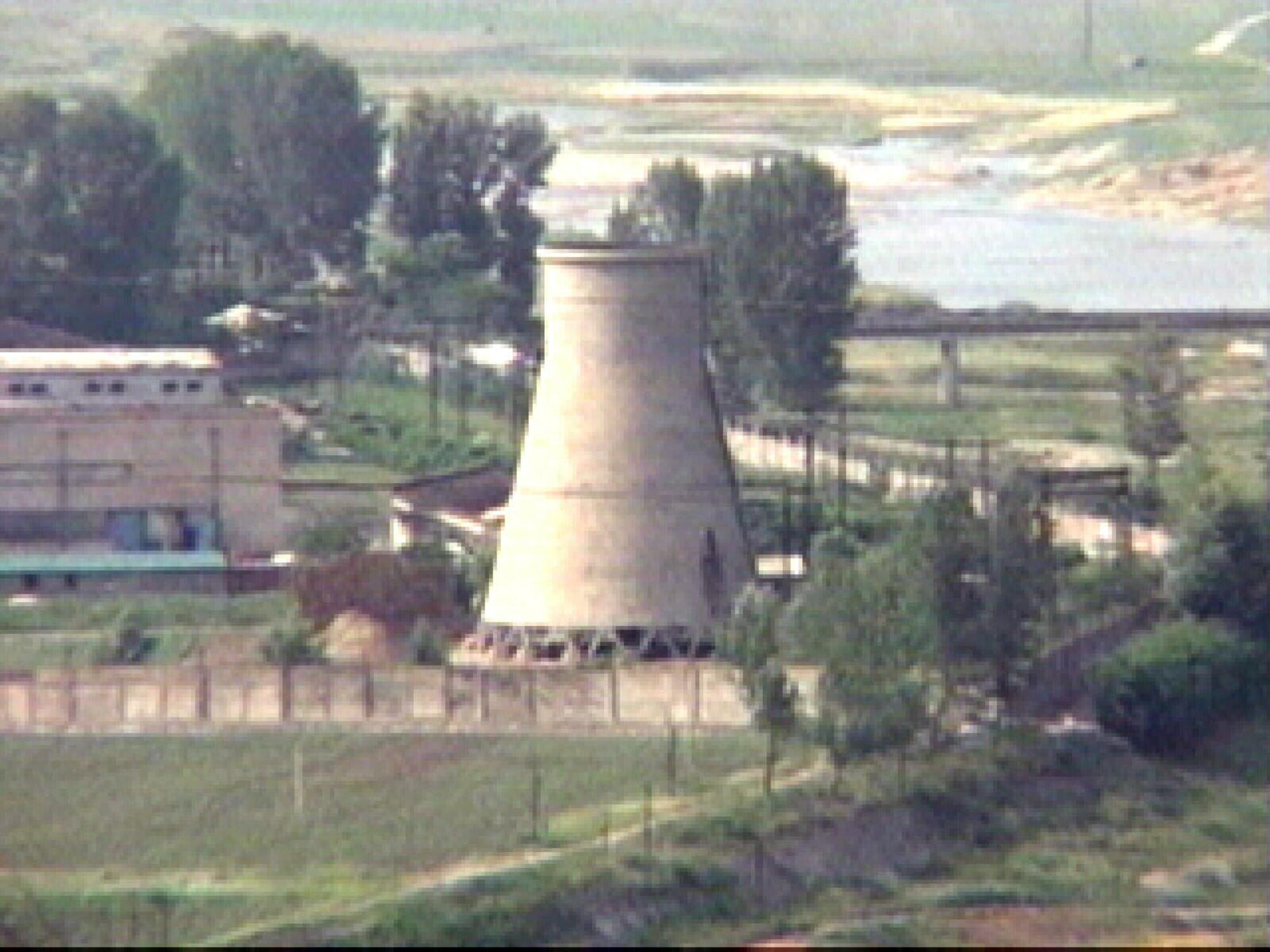 ▲▼位於北韓平安北道寧邊郡核設施的核反應爐。(圖/達志影像/美聯社)