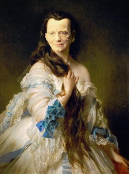 ▲▼澳洲一名男子惡搞妻子的古典畫,全都P上《星際大戰》人物的臉。(圖/翻攝自Instagram/@scadarts)