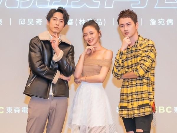 ▲《競技青春》邱昊奇(左起)、梁以辰、張捷  。(圖/東森提供)