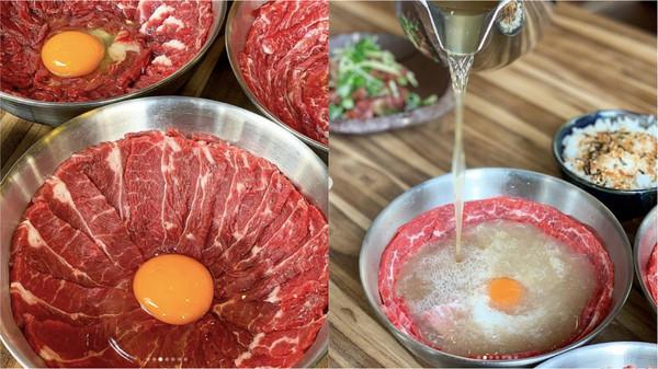 只賣10碗!台南新開牛肉湯「鋪滿肉片+生蛋黃」 熱湯一淋秒變粉嫩   E