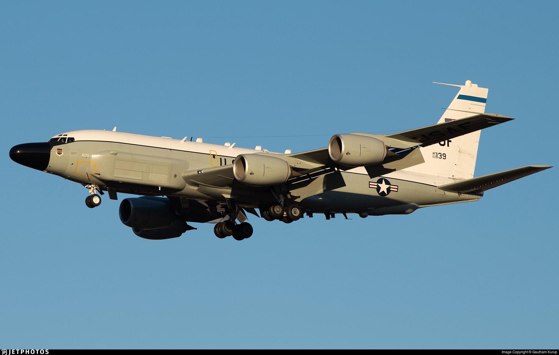 ▲▼美軍4日出動偵察機RC-135監視北韓動向。(圖/翻攝自Twitter@Nocallsign17)