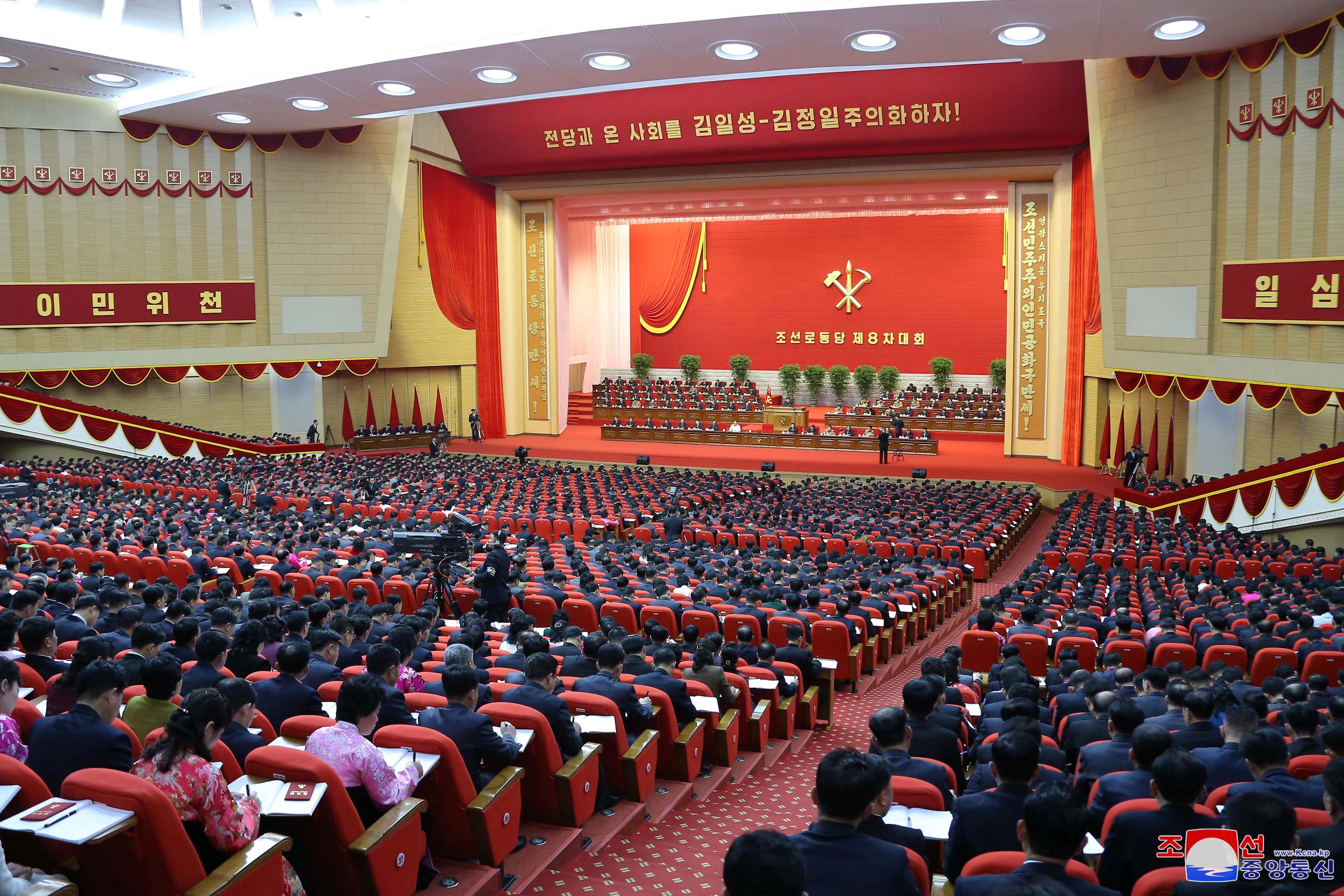 ▲▼金正恩7日續開全代會檢討會議,討論對南韓與美國等外交策略與方針。(圖/路透社)