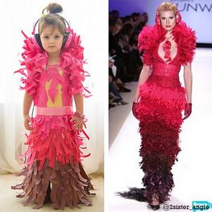 太驚艷!4歲女娃竟靠海報紙自創時裝