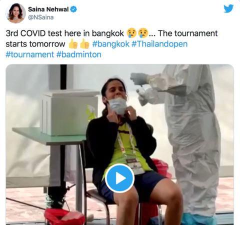 印度前球后塞娜確診退出再檢測 被允許13日重返泰羽賽首輪