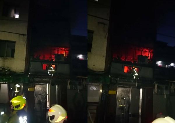 快訊/基隆公寓大火!20多歲男命危 「電視爆炸」2樓全面燒紅