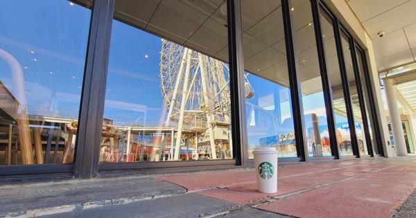 最靠近摩天輪的星巴克!台中最新門市開幕 海洋藍+整排落地窗超療癒 | E