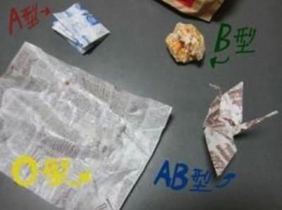 一張照片,從揉包裝紙看穿你的血型