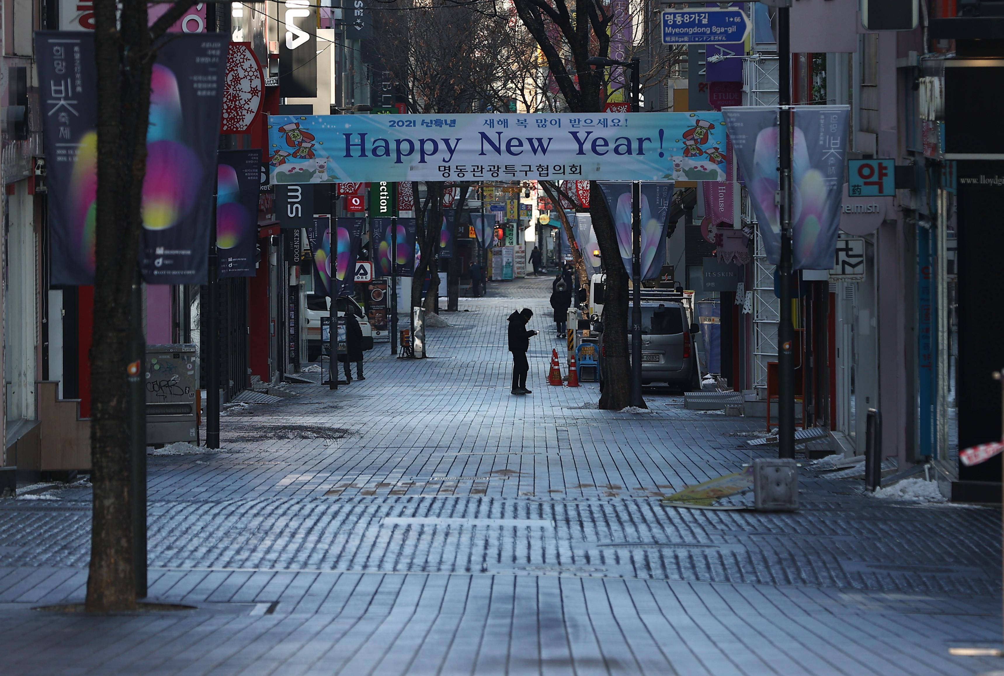 ▲▼觀光客銳減、內需市場受創,首爾明洞街頭冷清,出現大量倒店潮。(圖/達志影像)